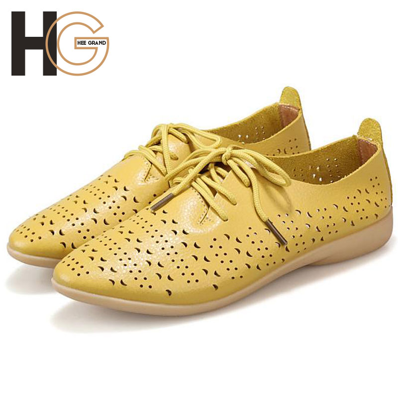Women Flat 2015 New Fashion Causal Cut-Outs Lace-Up PU Leather Flats For Women Shoes For Pregnant Or Drive Plus Size XWD2137<br><br>Aliexpress
