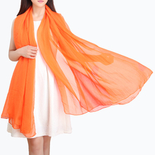 LING/2015 Fashion Classic Emulation silk Women Scarf,New Long Pure Color Is Prevented Bask shawls ,Female Beach Towel/YW1003(China (Mainland))