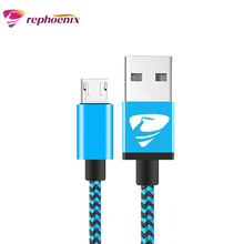 Buy Micro USB Cable Nylon Braid Metal 1m 2m Plug Data Charging Cable Samsung Huawei LG HTC Xiaimi Meizu Android Phones Rephoenix for $2.30 in AliExpress store