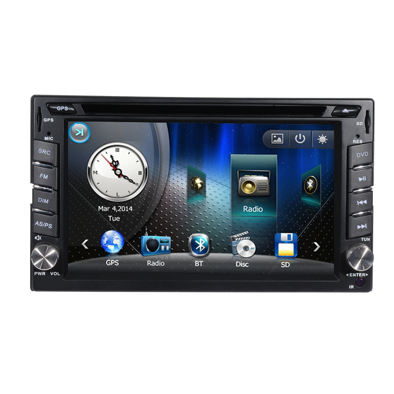 Free Shipping 6.2 inch Touch Screen Universal 2 Din Car DVD Player GPS Navigation RDS Bluetooth Radio CD USB SD Free Map(China (Mainland))