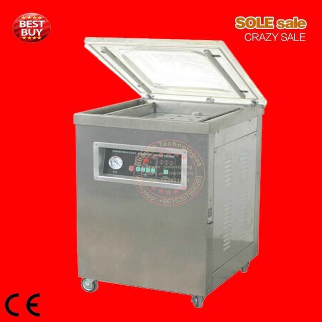 Vacuum packaging sealer DZ400, single chamber, vacuum sealing machine for food saving, 20cubic/m vacuum enginee, 400mm sealer