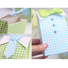 2016 20 pcs My Little Man Blue Green Bow Tie Birthday Boy Baby Shower Favor Candy Treat Bag Wedding Favors Candy Box Gift Bag(China (Mainland))