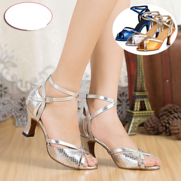 Free shipping women Satin Print PU Latin dance shoes Women's Spot soft outsole Ballroom dancing shoes Waltz Salsa shoes WD089(China (Mainland))