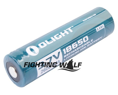 Durable Quality More Than 500 Charge-discharge Cycles Olight 18650 3.7V 2600mAh Li-ion Battery for M22 M3X S20 High-drain Device(China (Mainland))