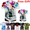 Vogue of new fund of 2016 quick drying explosion mushroom cloud T shirt man animal 3