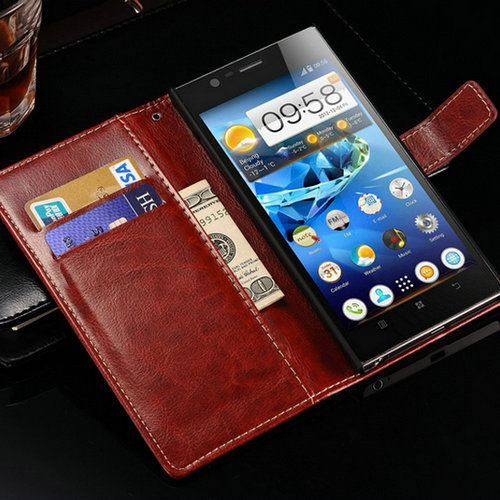 New 2015 Retro Leather Case For Lenovo K900 Wallet Style Phone Bag Cover Flip Stand Design