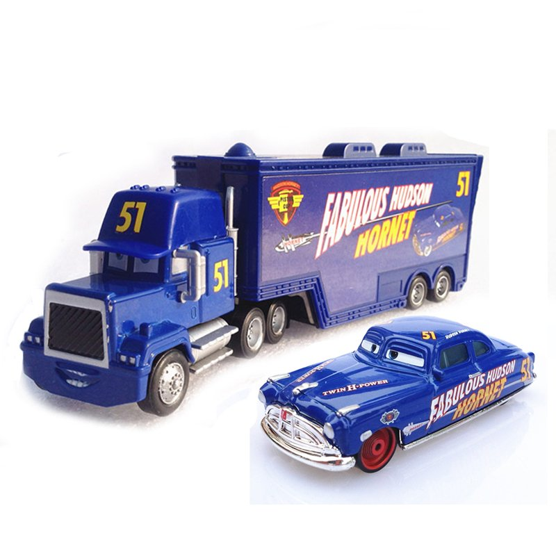 A01-0303 Funny Pixar Cars diecast figure toy Alloy Car Model for kids children Toy car and Container truck NO.51 2pcs/set(China (Mainland))
