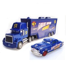 A01-0303 Funny Pixar Cars diecast figure toy Alloy Car Model for kids children Toy car and Container truck NO.51 2pcs/set