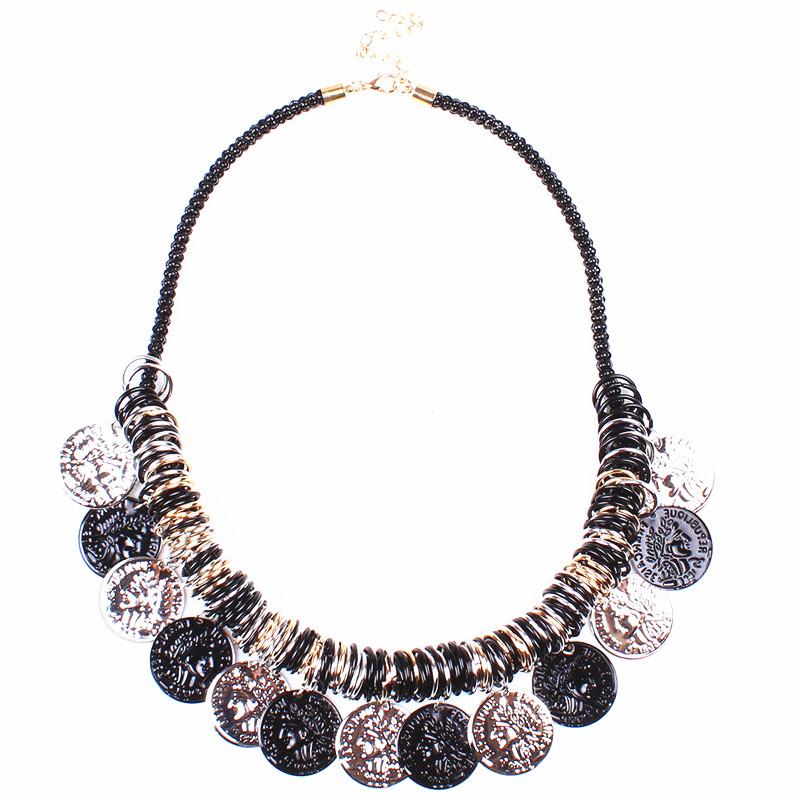 Aliexpress.com Comprar Venta al por mayor 2015 moda Bisuteria Mujer de la joyería turca DIY Vintage moneda collar mujeres que envían libremente LN1511  de