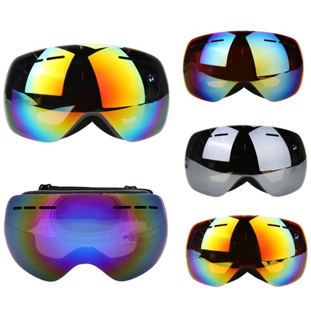 Горячие продажи лыжные очки двухместный UV400 анти-туман большой лыжная маска очки лыжи мужчины женщины снег сноуборд очки