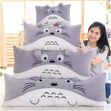 Totoro Japanese Anime Figure 2016 Queen Pillow Dolls Plush Toys Creative Children's Pillows Kids Toys and Gifts Hot Sale