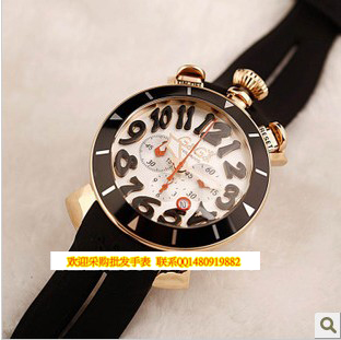 015 Top Fashion Limited Round Spring Summer Watch Dial Gaga Milano Watches Rubber Sheet Travel Essential 7g1 - KAKAYI store