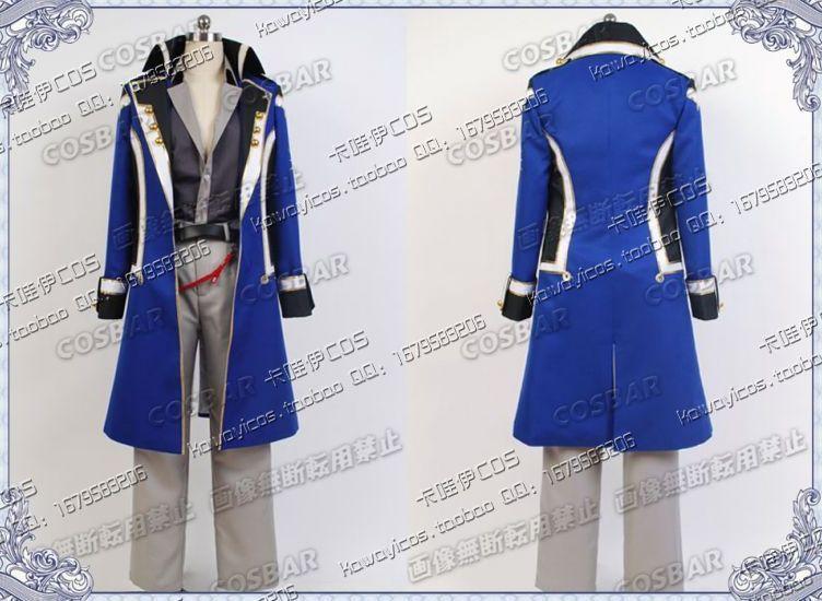 Cos Kamigami no Asobi Thoth Caduceus Cosplay Costume Long School Uniform Boy Students Clothing Set Blue New Arrival Îäåæäà è àêñåññóàðû<br><br>