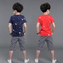 Hot ! Cotton boys t shirts Korean version star letters print short-sleeved T-shirts kids clothing children t shirts baby clothes