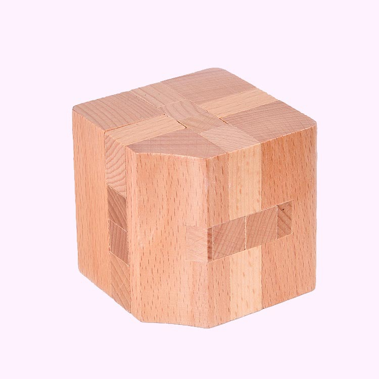 High quality kids educational wooden toys 3D magic cube puzzle games(China (Mainland))