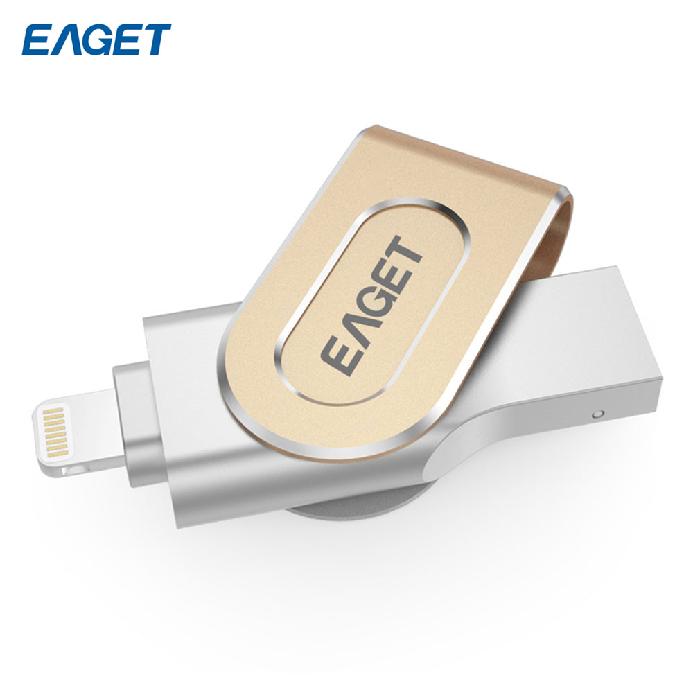 Eaget I80 Metal Pen Drive 3.0 Usb 64GB Flash Drive for Iphone Pendrive for Ipad External Storage OTG Expansion Usb Stick(China (Mainland))