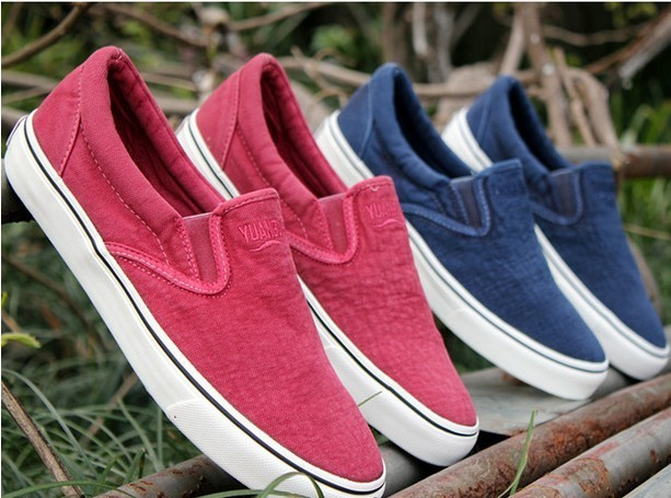 Men's 2013 canvas shoes male canvas shoes low water wash denim canvas shoes