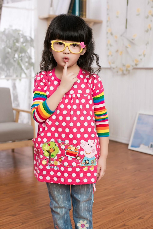 4 colors NOVA KIDS clothing polka dot kids dresses baby spring wear child dress girls