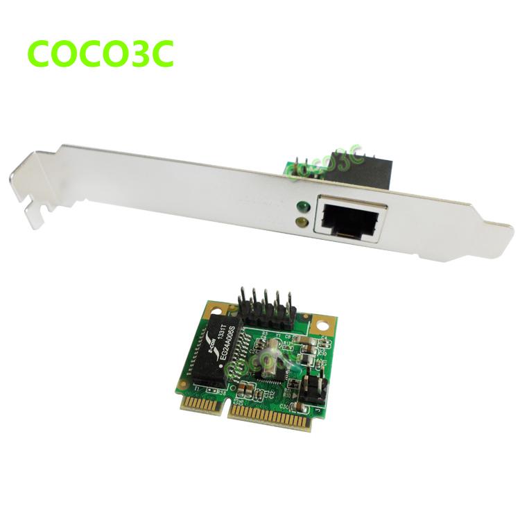 Mini PCIE Network Lan Controller Card Gigabit Ethernet Card 10/100/1000 Base-T with RJ45 Port Bracket To Laptop Servers(China (Mainland))