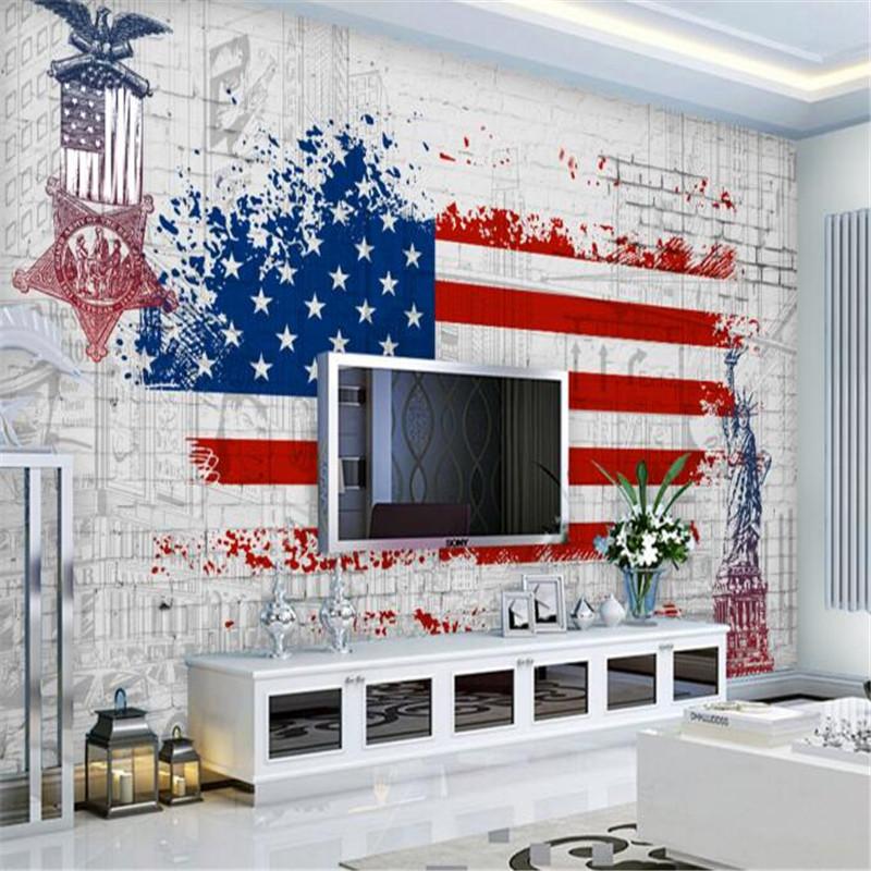 achetez en gros drapeau am ricain papier peint en ligne. Black Bedroom Furniture Sets. Home Design Ideas