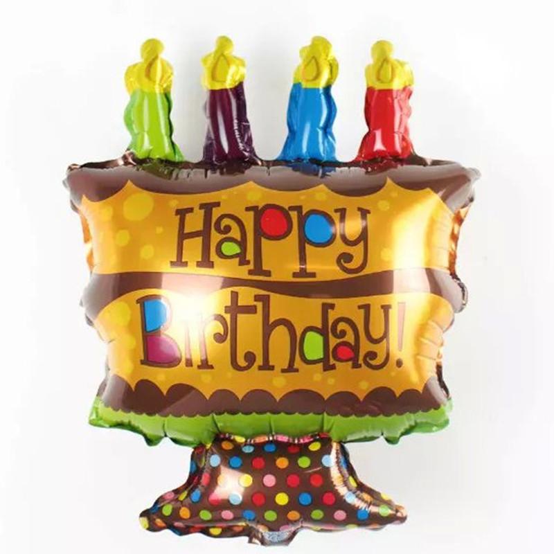 Hot Sale 2015 New 48*26cm Cute Aluminum Foil Happy Birthday cake Balloon Decoration ceremony palloncini globos helio infantiles(China (Mainland))