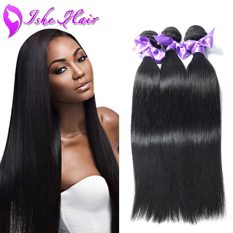 Cheap Brazilian Hair 3 Bundles Brazilian Straight Virgin Hair 100% Human Hair Extension Brazilian Straight Hair Weave Hot Sale