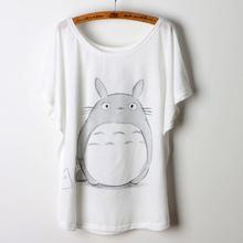 2015 Casual Summer T-shirt Women T Shirt Animal Print Totoro Camisetas Mujer Femme Loose Ladies Tops Womens Clothing Tees shirts(China (Mainland))