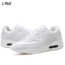2016 Women Casual Shoes Lace Fashion Mens Autumn Flats Walking Footwear Male White Black PU Leather Quality Best Evening - OnlyPuff store