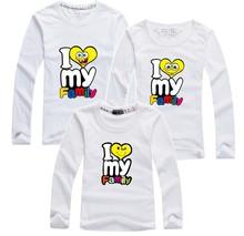 1 pc HOT Selling Cotton Shirt Yellow Colors Family Set T Shirts 2016 Matching Family Clothing Men Women Kids Large T-Shirts