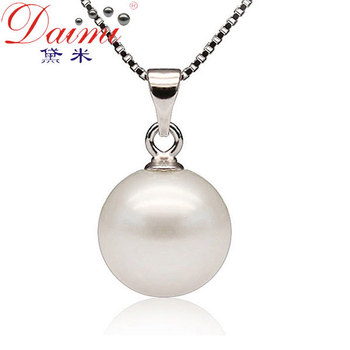 Shopping Festival 925 Sterling Silver Pearls By Demi 9-10mm natural round freshwater pearl flower necklaces & pendants