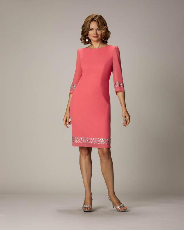 3 4 long dresses coral