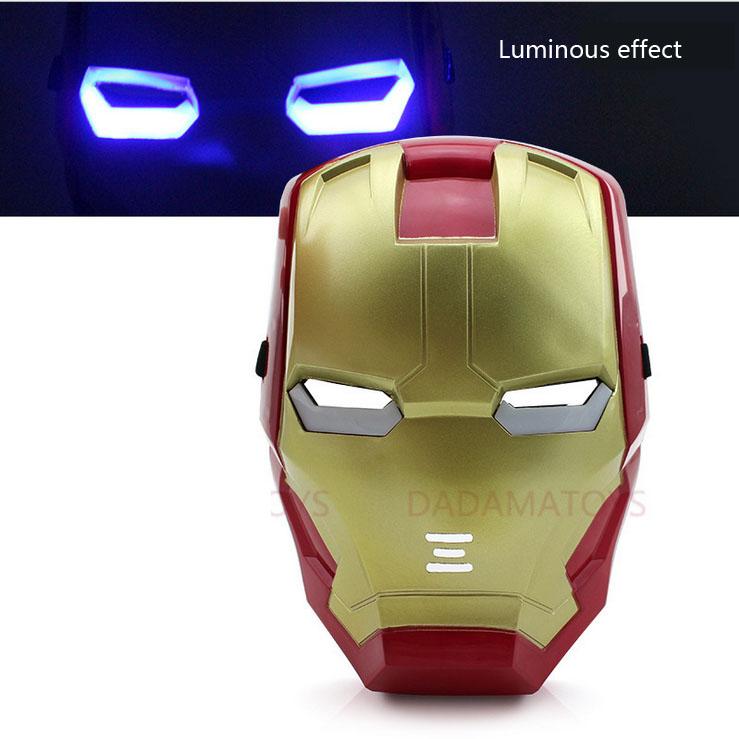 new Glow toys children's masked ball Avengers iron man Halloween mask fashion(China (Mainland))