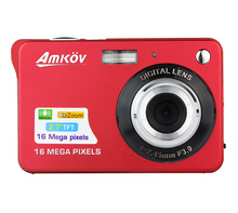 E9010Z  New HD Digital Camera 16MP 2.7″ TFT 4X Zoom Smile Capture Anti-shake Video Camcorder red or black