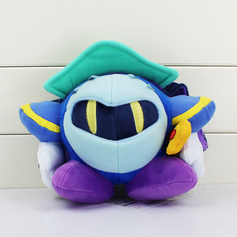 Free Shipping 18cm New Arrival Kirby Rainbow Curse Meta Knight Stuffed Plush Doll Soft Toy With Tag Gift For Children(China (Mainland))