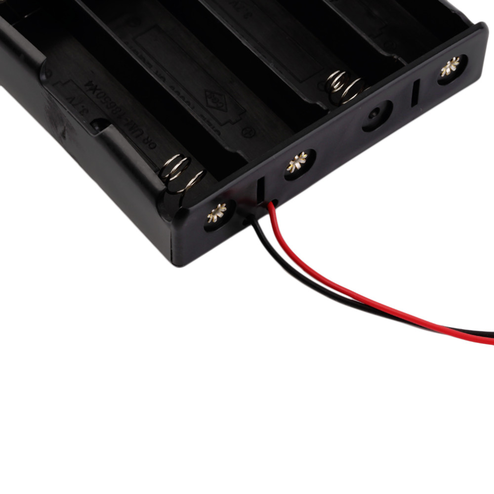 image for Plastic Battery Storage Case Box Holder For 4 X 18650 3.7V With Wire L