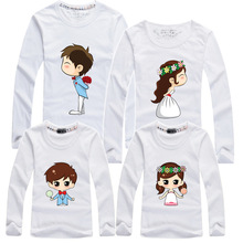 1 pc Popular 100% Cotton T Shirts for Mom Daughter Women Men Kid Clothing Matching Family Outfit Long Sleeves Cotton T-Shirts