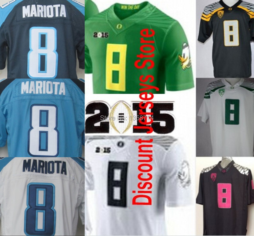 2014 Playoffs NCAA Oregon Ducks Jerseys #8 Marcus Mariota Jersey College Football Jerseys Embroidery logos(China (Mainland))