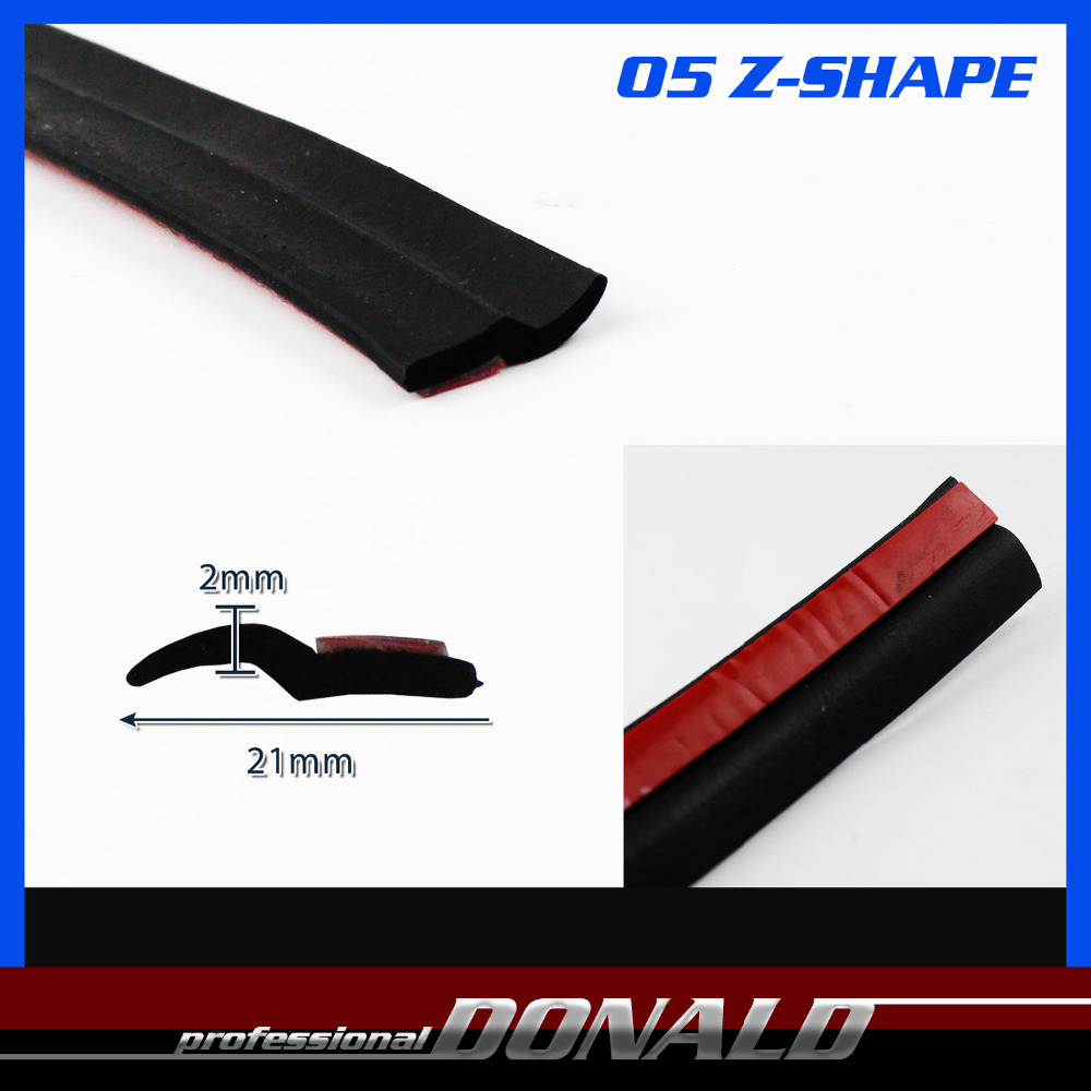 """High Quality!! Z Type BLACK Edge Trim Seal Rubber Car Truck Door Noise Sound Insulation Protector Guard Weatherstrip 60"""" 150cm(China (Mainland))"""
