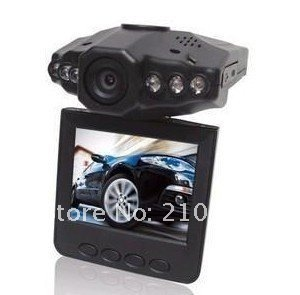 """Night Vision carcam DVR car vehicle truck camera recorder vedio motorcycle car depicted screen  6 LED light dvr H198 2.5""""Screen"""