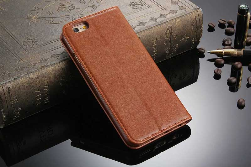 Lusxury Case for iPhone 7 & Plus Leather Case for iPhone SE 5 S Flip Cover Card Holder for iPhone 6 S Plus Phone Bag Auto Adsorb