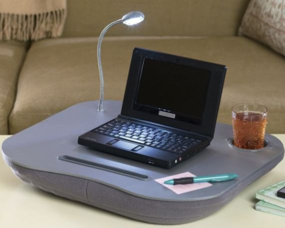 led light portable computer desks cushion mat laptop table lapdesks computer accessories night. Black Bedroom Furniture Sets. Home Design Ideas