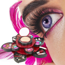 4 Layer Make Up Kit Color Palette Powders Eyeshadow Lip Pensil Brush Set Hot Selling(China (Mainland))