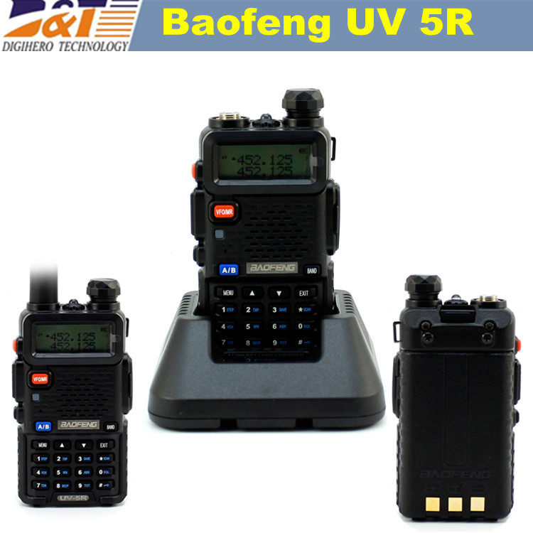 Baofeng UV 5R Walkie Talkie Portable two way Radio UV-5R 10km Baofeng for VHF UHF Dual Band ham CB Baofeng UV5R 1pcs Cheap(China (Mainland))