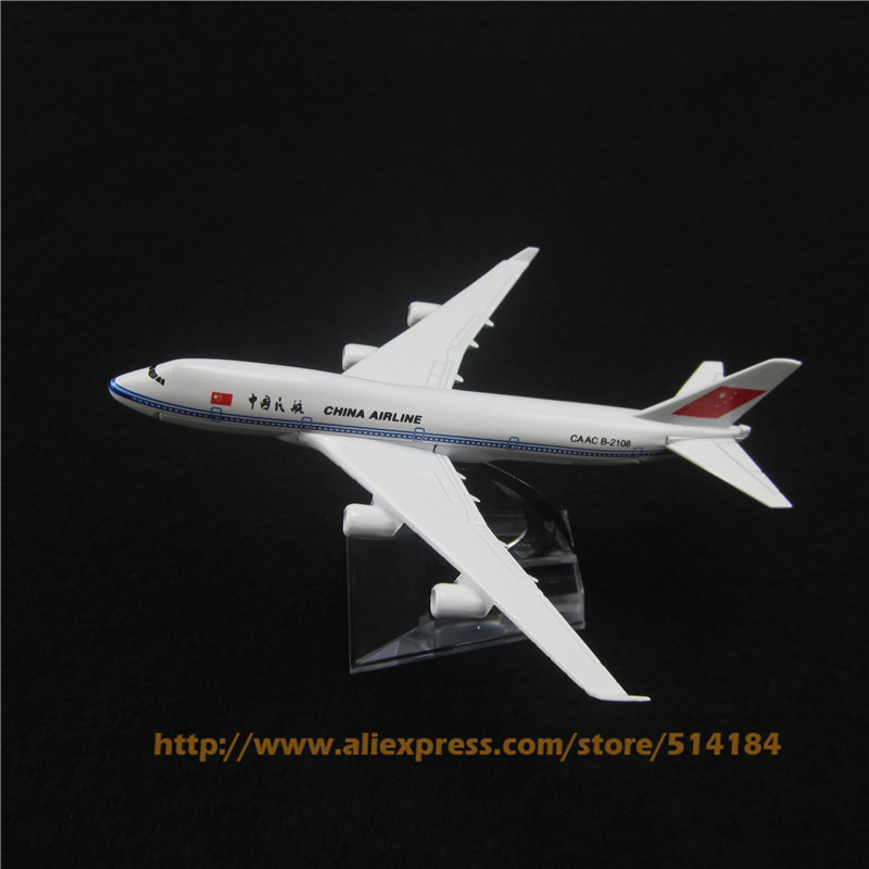 16cm Alloy Metal Air China Airlines Model Boeing 747 B747 400 Airlines Airways Plane Model Development Aircraft Airplane Toy(China (Mainland))