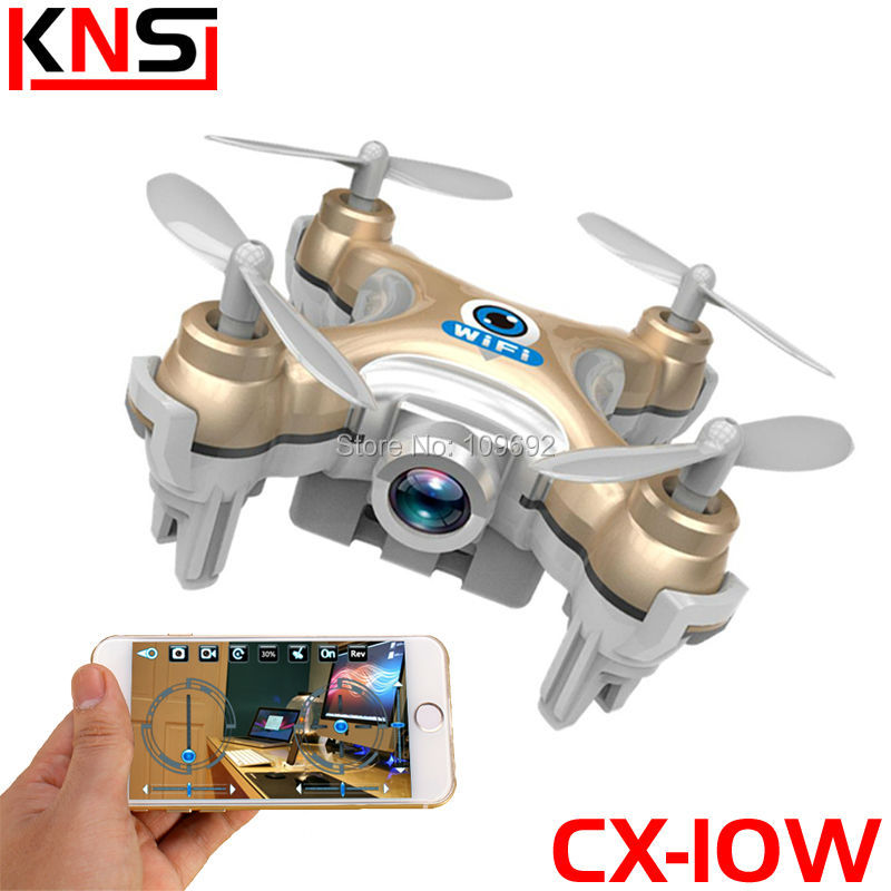 Free Shipping RC Drone Cheerson CX-10W CX10W MINI WIFI FPV Quadcopter 6-Axis 2.4G 4CH With 0.3MP HD Camera Helicopters Toy Gifts(China (Mainland))