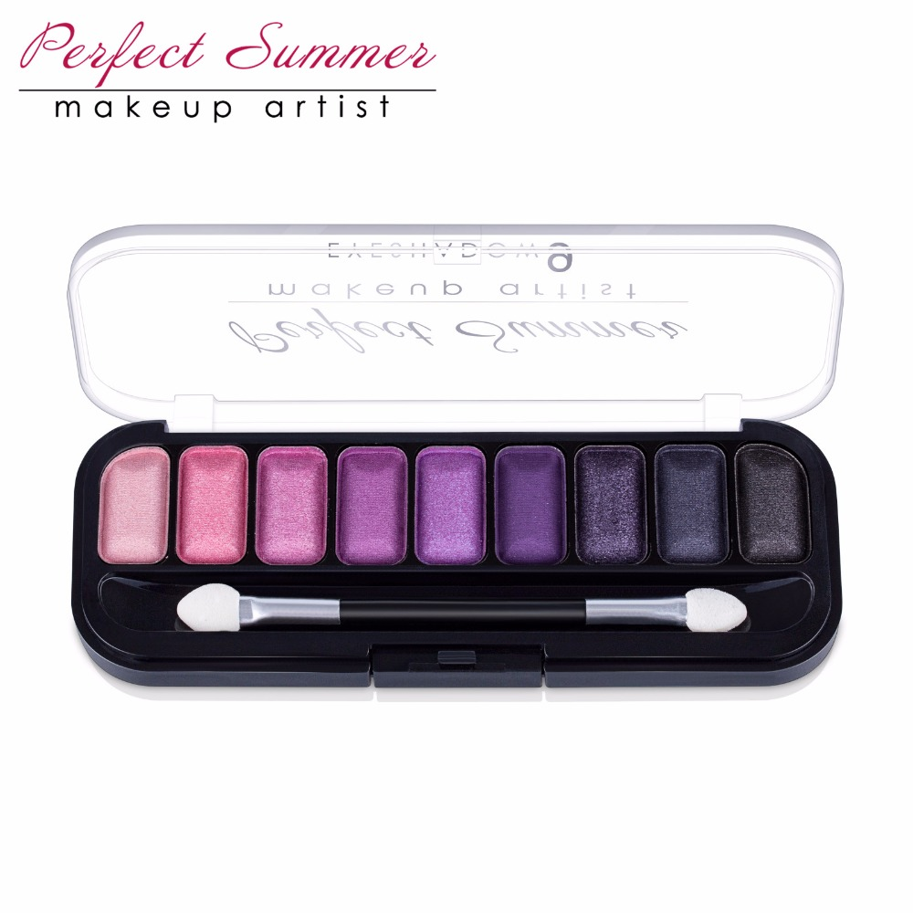 Perfect Summer Eye Shadow 9Color Palette Makeup Eye Shadow Kit High Quality Long Lasting Eye Shadow Beauty Makeup Popular Choice(China (Mainland))