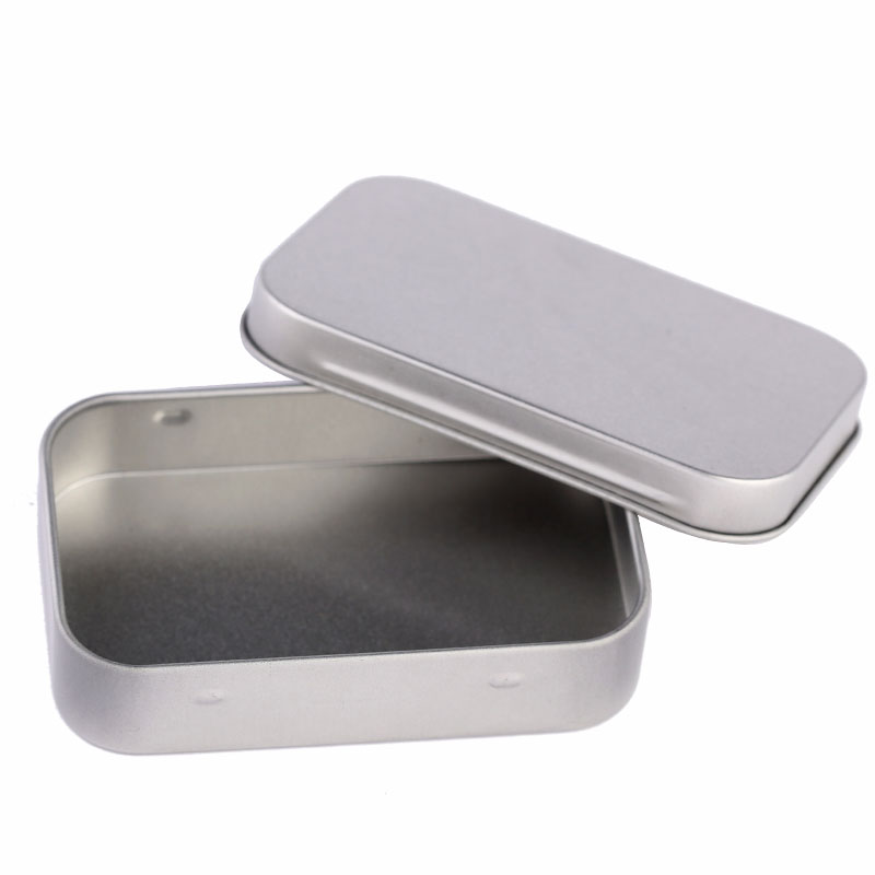 Survival Kit Tin Small Empty Silver Metal Storage Box Case Organizer For Money Coin Candy Keys(China (Mainland))