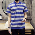 2016 New Summer Style Fashion Men Polo shirt Solid Color Short Striped Polos Sleeve Slim Fitness