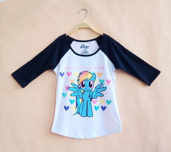 2015 Brand My Little Pony Shirt Girls Cotton Long Sleeve 6-12y Kids Summer Clothing Princess Girls T shirt New Fashion YA123(China (Mainland))
