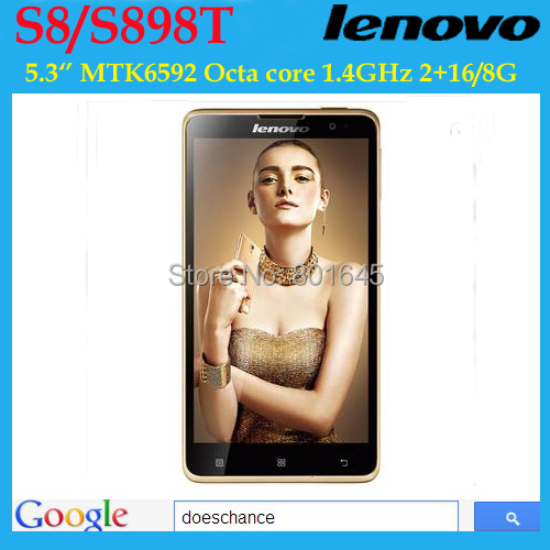 Original Lenovo S8 S898T+ Mobile Phone MTK6592 Octa Core Android Smartphone 2GB RAM 16GB ROM 5.3 inch HD OGS Screen 13.0MP Camera - Doeschance Industrial CO., Ltds. store